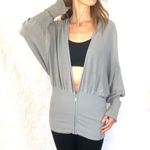 Guess zippered hoodie grey S